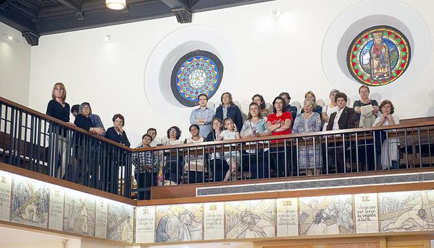 Els assistents van poder apreciar el nou mosaic realitzat a càrrec d'Ivan Ruptnik