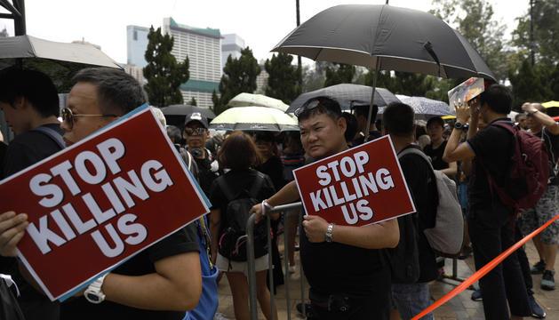 La protesta va col·lapsar el centre de la ciutat.