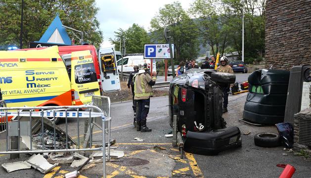 Un accident registrat a la xarxa de carreteres andorranes.