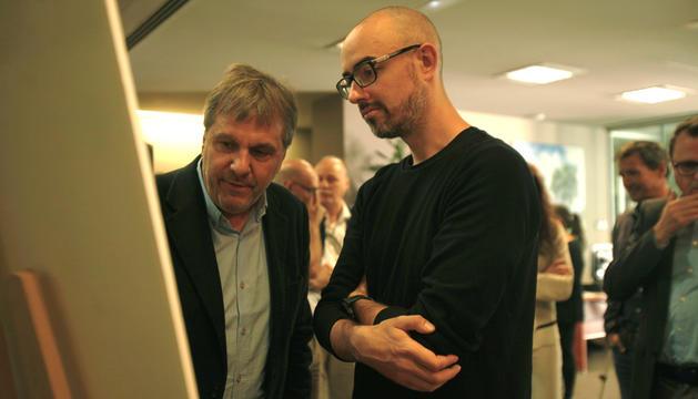 Pere Cervós (esquerra) i Miquel Mercè (dreta) en la presentació ahir dels projectes.