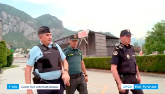 Agents de policia andorrans, francesos i espanyols en una operativa conjunta a l'Arieja.