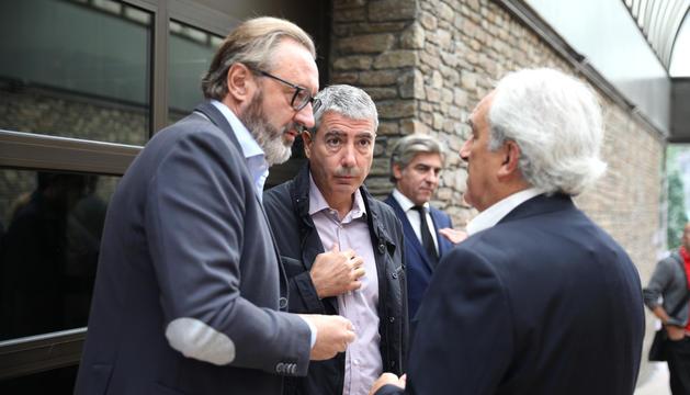 Higini Cierco i Joan Pau Miquel en el primer dia del judici del 'cas BPA', que es reprèn al setembre.