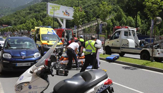 L'accident produït aquest migdia a l'avinguda Tarragona