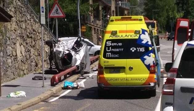 Accident a La Massana