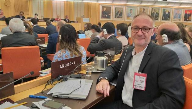 El Director d'Agricultura, Josep Maria Casals, durant la sessió de la FAO a Roma