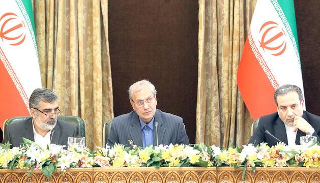 Els dirigents iranians, Behruz Kamalvandí i Abbas Araqchí.