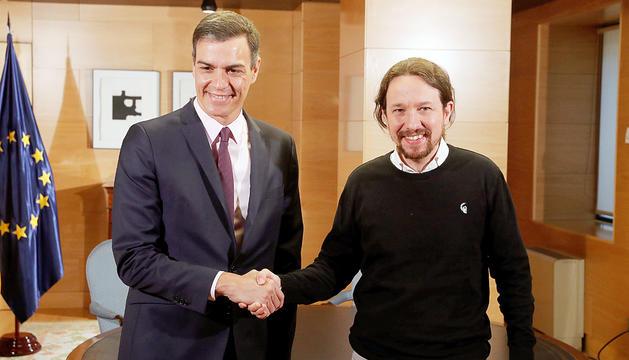 Pedro Sánchez i Pablo Iglesias, durant una trobada recent.