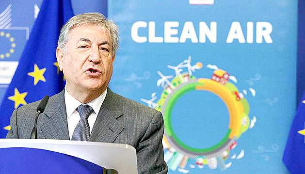 El comissari europeu de Medi Ambient, Karmenu Vella.