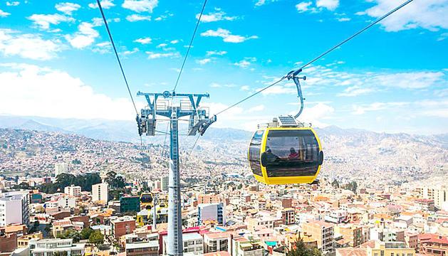 El telecabina de La Paz és un dels referents urbans d'aquesta infraestructura.
