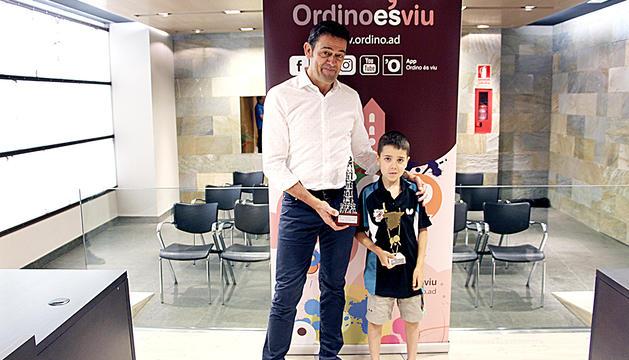Mortés amb Oriol Martínez ahir al comú d'Ordino.