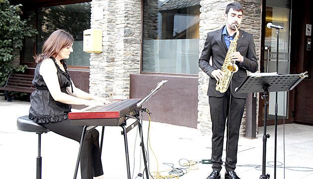 Teresina Serra i Guillem Tudó, com a Blue Note.
