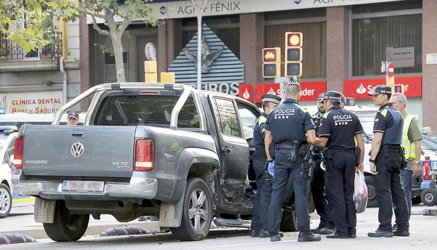 El vehicle del conductor detingut ahir a Barcelona.