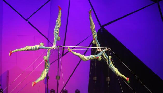 'VISION'. El quart Scalada va combinar les acrobàcies típiques del Cirque amb animacions en tres dimensions coreografiades amb ballarins.