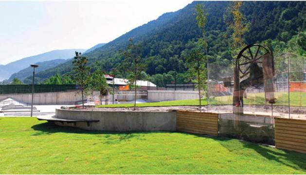 Un espai del parc de la Serradora