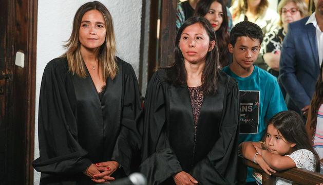 Les batlles Laura Rodríguez i Sònia Tumi
