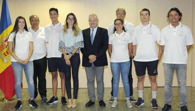 Sílvia Riva amb la delegació que viatjarà a Bakú