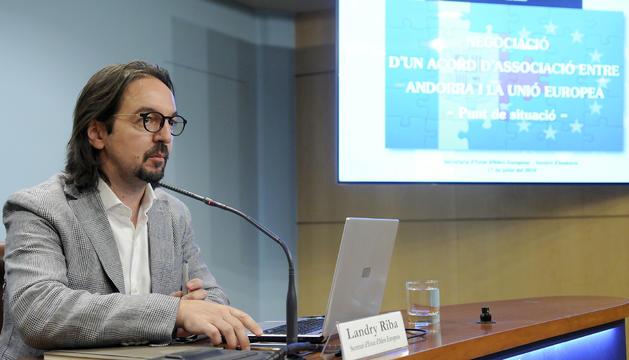 El secretari d'Estat d'Afers europeus, Landry Riba