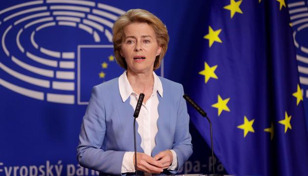 Ursula von der Leyen durant el seu primer discurs.