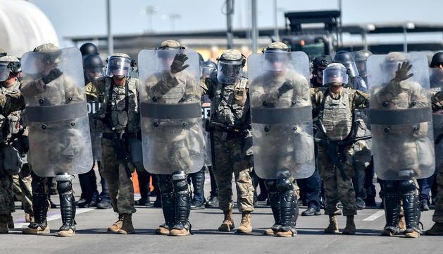 Els militars que arribaran a la frontera mexicana.