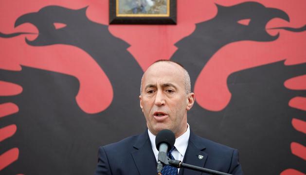L'exprimer ministre de la República de Kosovo, Ramush Haradinaj.