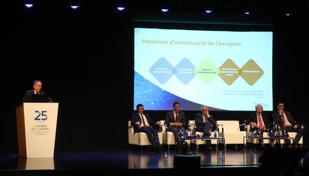 L'acte de presentació dels resultats dels informes encomanats per la Cambra es va celebrar al Centre de Congressos en presència de la classe política i empresarial del país a mitjan de juny.