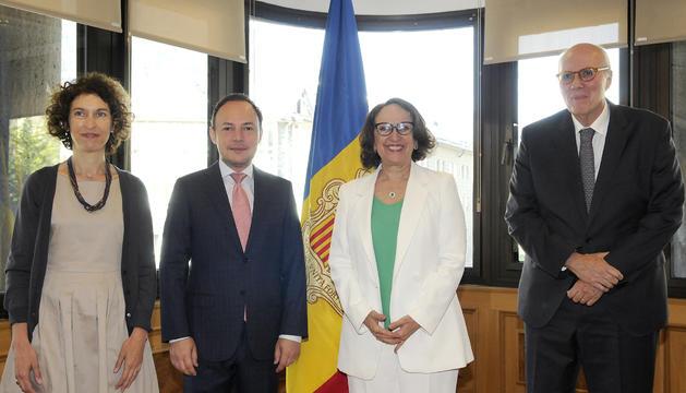 La secretaria general iberoamericana, Rebeca Gryspan, s'ha reunit amb els representants de Govern