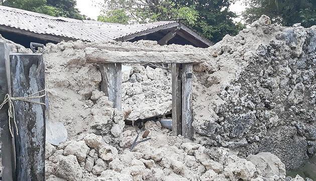 Moltes cases i esglésies es van ensorrar.