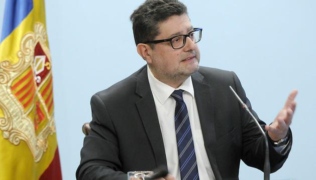 El cap de laUIFAND, Carles Fiñana, durant la presentació de la memòria 2018