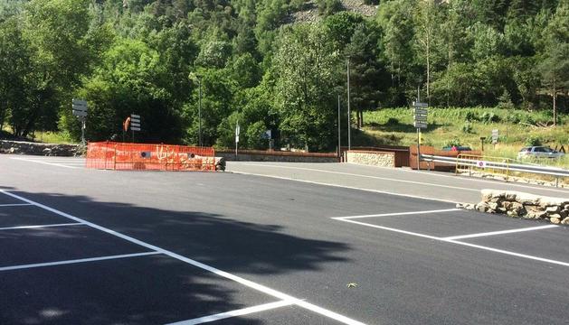 Nova zona d'aparcament prop de la Vall del Madriu.
