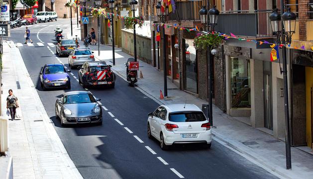 L'avinguda Príncep Benlloch amb el trànsit restablert.