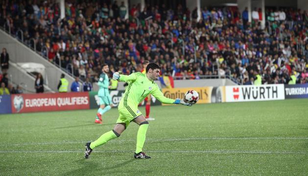 Josep Antoni Gomes amb la selecció nacional.