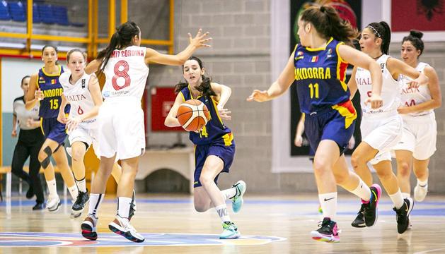 Imatge del partit entre Andorra i Malta al Joan Alay.