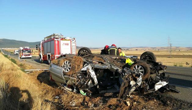 Imatge de l'accident de Sòria.