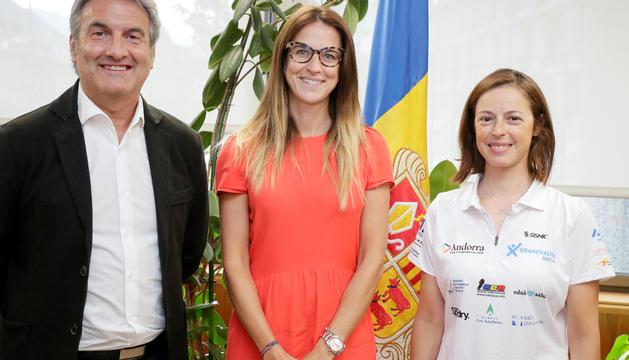 Riva i Ruiz reben Mari Martínez abans dels Jocs