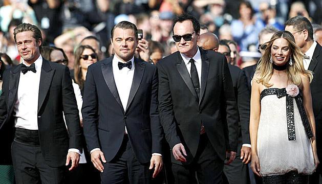 Leonardo DiCaprio, Quentin Tarantino i Margot Robbie.
