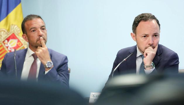 Torres i Espot, a la roda de premsa posterior al consell de ministres extraordinari.