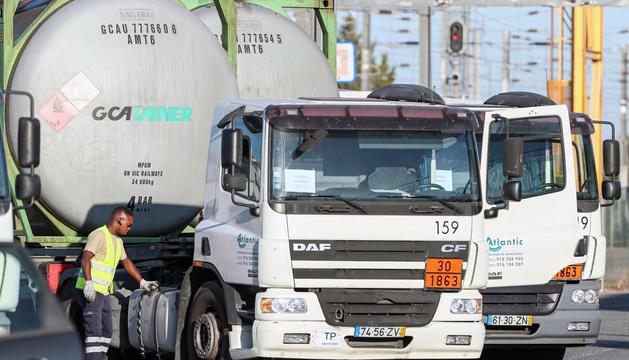Camions cisterna a Portugal.