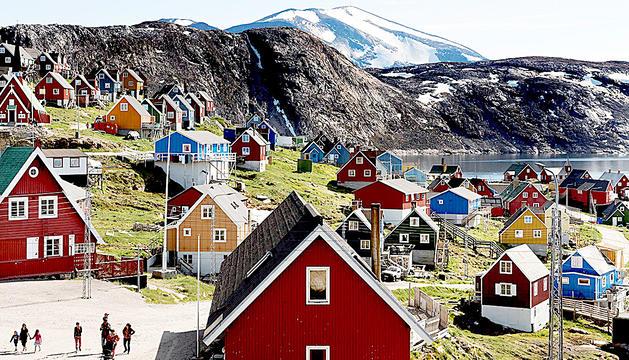 Una de les poblacions de Groenlàndia.