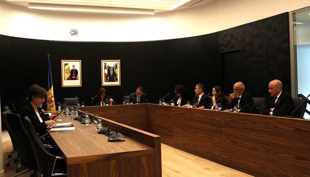 La sessió del consell de comú d'avui.