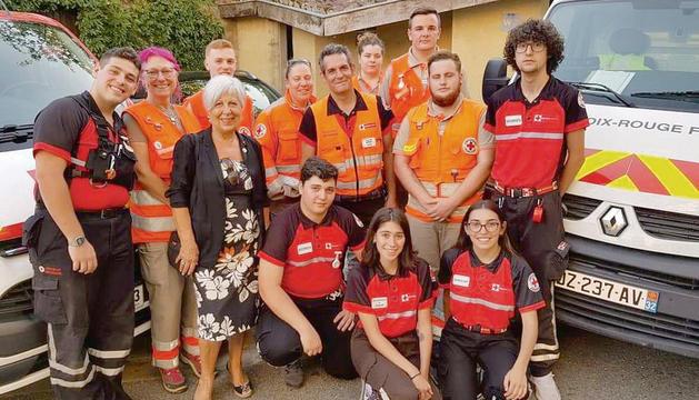 Imatge dels efectius de la Creu Roja a França.