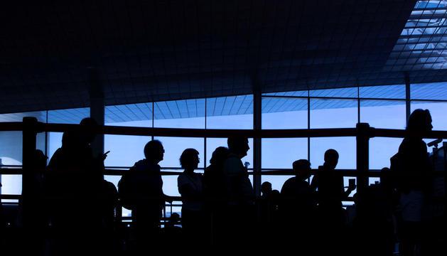 Cap de setmana de molta afluència a l'aeroport.