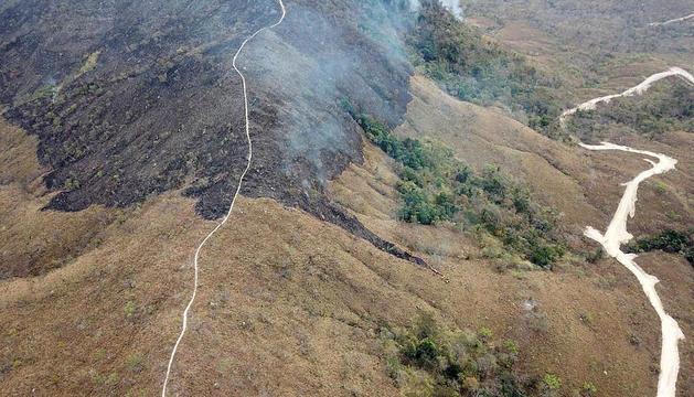 Incendi a l'estat de Mato Grosso.