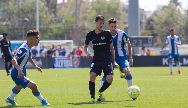 Martí Riverola durant el partit.