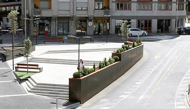 Ja han finalitzat les obres a la plaça de les Pubilles.