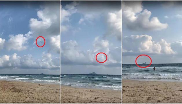Diversos testimonis van captar l'impacte en vídeo.