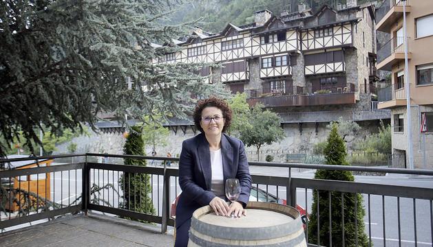 Judith Pallarés a la terrassa La Llum d'Oli a Arinsal.