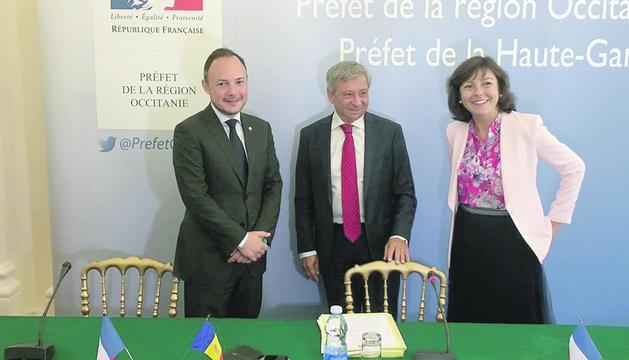 La d'ahir va ser la segona reunió amb les autoritats d'Occitània.