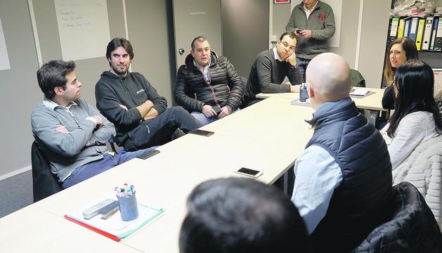 Toni Garcia, 'Toti', en una reunió de l'antiga executiva liberal.