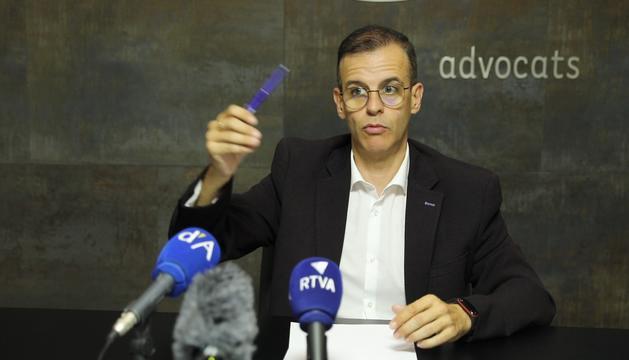 Josep Anton Silvestre ha comparegut avui en roda de premsa