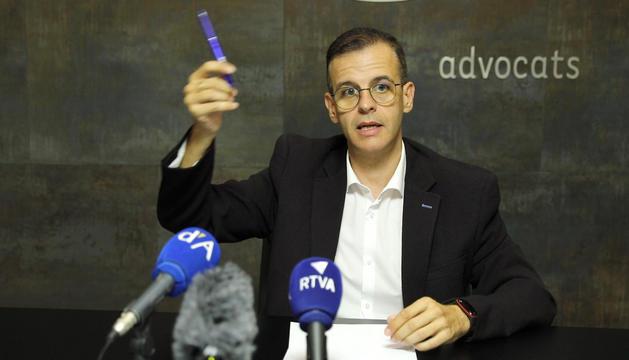 Josep Anton Silvestre durant la compareixença.